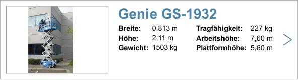 Vermietung Genie GS-1932